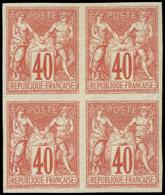 ** Colonies Générales - 27   40c. Rouge-orange, BLOC De 4, 1 Ex. Pt D'adh., TB - France (ex-colonies & Protectorats)
