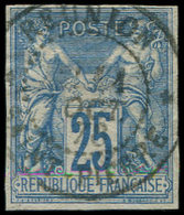 Colonies Générales - 35   25c. Bleu, Obl. REUNION/ST PIERRE 11/10/76, Petites Marges Intactes, TB - France (ex-colonies & Protectorats)