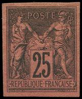 * Colonies Générales - 43   25c. Noir Sur Rouge, Pli, Aspect TB. Br - France (ex-colonies & Protectorats)