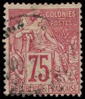 Colonies Générales - 58   75c. Rose, Obl., TB - France (ex-colonies & Protectorats)