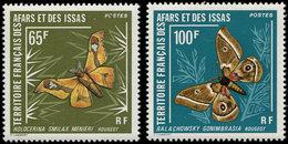 ** AFARS ET ISSAS 420/21 : Papillons, TB - Afars Et Issas (1967-1977)