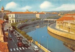 Cartolina Senigallia Portici Ercolani Fiume Misa - Ancona