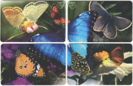 SOUTH AFRICA A-572 Chip MTN - Animal, Butterfly - 4 Pieces - Used - Südafrika