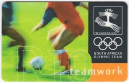 SOUTH AFRICA A-578 Chip Telkom - Event, Sport, Olympic Games, Soccer - Used - Südafrika