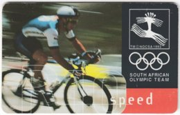 SOUTH AFRICA A-581 Chip Telkom - Event, Sport, Olympic Games, Cycling - Used - Afrique Du Sud