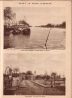 14-18 - Avant Le Siège D'Anvers - Pont-Brûlé - Bateaux Coulés Dans Le Canal - Dim. A4 - Militair
