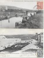 76 - Seine Maritime - Veulettes Sur Mer - 2 Cartes Animées 1904 1905 - France