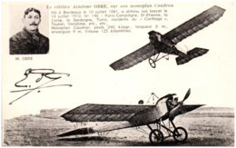 Le Célèbre Aviateur OBRE, Sur Son Monoplan Caudron - Aviateurs