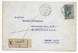 Albanien 1924 Einschreiben Von Tirana Nach London - Albanie