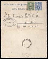 PARAGUAY. 1896 (10 Jan.). PARAGUAY-ARGENTINA-PERU-ECUADOR. Asuncion To Ecuador / Quito. Via Lima / Peru And Buenos Aires - Paraguay