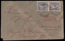 PARAGUAY. 1897(5 Jan). Sc37º(2). San Bernardino To Germany (7 Feb). Envelope Franked 10c.lilac, Puncholedx2., Tied Cds. - Paraguay