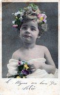 POSTCARD POSTALE PHOTO TARJETA POSTAL GIRL FLOWERS CIRCA 1920- NTVG. - Fotografía