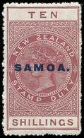 * SAMOA 81 : 10s. Brun-rouge, Surch., TB - Samoa