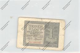 BANKNOTE - POLSKA / POLEN, Pick 91, 1940, 1 Zloty, VF - Polen
