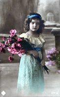POSTCARD POSTALE PHOTO TARJETA POSTAL CUTE GIRL CIRCA 1920- NTVG. - Fotografía