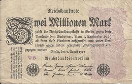 ALLEMAGNE 2 MILLIONEN MARK 1923 VG+ P 103 - [ 3] 1918-1933 : Repubblica  Di Weimar
