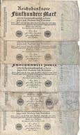 ALLEMAGNE 500 MARK 1922 VG+ P 74 ( 5 Billets ) - [ 3] 1918-1933 : República De Weimar