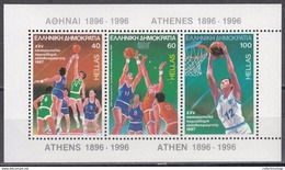 Greece-1987 25th European Men's Basketball M/S Miniature Sheet Block MNH ** - Grecia