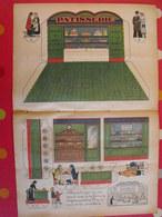 Découpage Diorama à Construire. Pâtisserie, Salon De Thé, Gâteaux. 1936 - Collections