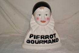 PIERROT GOURMAND - Porte Sucette , Alimentation , Publicite , Faience - Otros