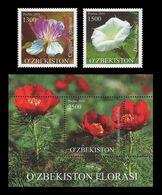Uzbekistan 2016 Mih. 1145/46 + 1147 (Bl.80) Flora. Ornamental And Wild Plants MNH ** - Uzbekistan