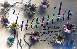 "POSTCARD POSTALE PHOTO TARJETA POSTAL ""JUANITA"" FLOWERS CIRCA 1920- NTVG. - Fotografía"