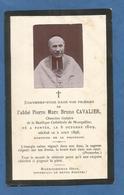 GENEALOGIE FAIRE PART CARTE MORTUAIRE DECES FONTES MONTPELLIER ABBE CAVALIER 1898 - Esquela