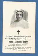 GENEALOGIE FAIRE PART CARTE MORTUAIRE DECES FREZE SUPERIEURE GENERALE SOEURS  RETRAITE CHRETIENNE 1928 - Esquela