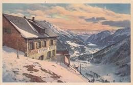 AK. Alp Grüm, Restaurant Belvédère, Blick Ins Puschlav - GR Grisons