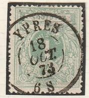 COB N° 26 - Obliétration DC YPRES 73 - 1869-1883 Leopold II