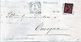 CG4 - Italia - Lettera Da Isolabella Del 6/2/1897 Per Omegna - Italia