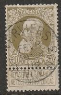 COB N° 75 - Oblitération VERVIERS AGENCE N°3 - 1905 Grosse Barbe