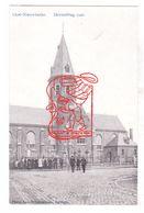 PK Oostnieuwkerke Staden - Zicht Op De Herstelde OLV Kerk 1920 - Photo Lagast Carpentier Roeselare - Staden
