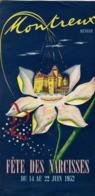 MONTREUX   Fête Des Narcisses En 1952 - Publicités
