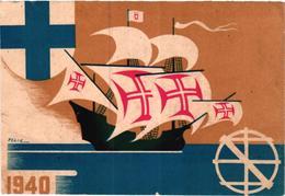 Portugal Lisboa Exposição Do Mundo Português 1940 Assinado Felix ( Cartão 12 X 8 Cms) - Esposizioni