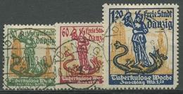 Danzig 1921 Tuberkulose-Woche 90/92 Gestempelt, Massenentwertung - Danzig