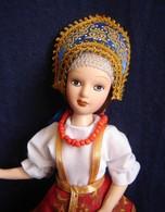 Porcelain Doll In Cloth Dress - Yaroslav - City Province  Province  - Russian Federation - Dolls