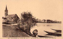 Chalonnes Sur Loire - Les Bords De La Loire Et L ' église Saint Maurille - Chalonnes Sur Loire