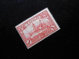 D.R.Mi 16/16 L - 1M*MLH - Deutsche Kolonien ( TOGO ) - 1900/1919 - Mi 24,00 € / Abart: Retusche - Colony: Togo