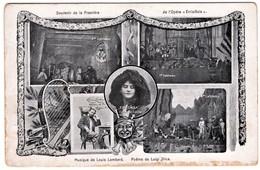 Yvonne De Treville In Premiere De L'Opera Errisinola In Lugano 1907 2 Scans - Opéra