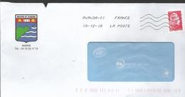 "Lettre  ""  MORS ST EUSEBE  ( 26 )  Mairie   Avec Timbre Autoadhésif N° 1598 - Frankrijk"