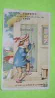 """Chromo Image Récompense D'école Vers 1900- FABLE DE LA FONTAINE Le Loup La Chèvre & Le Chevreau- Thiers à Lyon """"état""""/45 - Unclassified"""