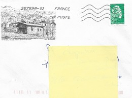 """Lettre  """"  SEEZ   -  Moulin De Saint Germain  N°  73123   - Avec Timbre Autoadhésif N° 1601 - Francia"""