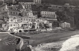 POSITANO-SALERNO-SPIAGGIA-CARTOLINA VERA FOTOGRAFIA - VIAGGIATA IL 13-9-1962 - Salerno