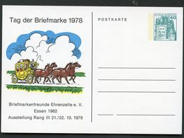 TAG DER BRIEFMARKE 1978 POSTKUTSCHE Bund PP100 D2/009 ESSEN - Tag Der Briefmarke