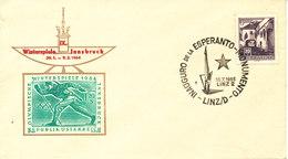 Austria Cover With ESPERANTO Postmark Linz 10-7-1965 (Inauguro De La Esperanto Monumento) - Esperánto
