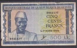Guinea 500 Francs  1960 - Guinée