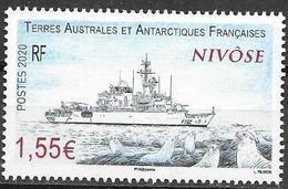 TAAF ,  FRENCH ANTARCTIC, 2020, MNH, SHIPS, NIVOSE, SEALS, 1v - Barche