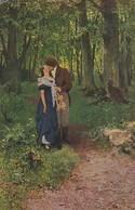 AK Der Erste Kuß - Prof. Dr. H. Seeger - Liebespaar Im Wald - Ca. 1910  (46722) - Coppie
