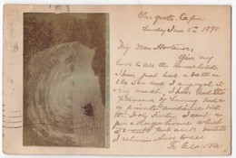 Capri - Blue Grotto. Rare Postcard, Image Pasted To Card. Postally Used, Interesting Message In English, 1895 - Sin Clasificación